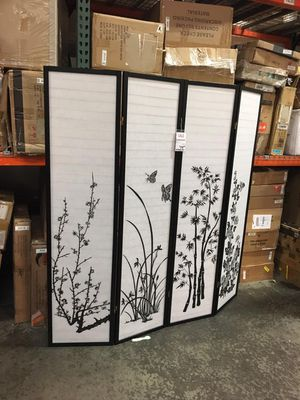 Print 4 Panel Room Divider, 7033-PR for Sale in Norwalk, CA
