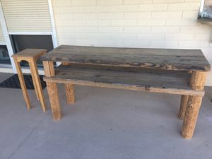 Wooden Console / Sofa Table and Small Side Table for Sale in Phoenix, AZ
