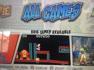 1 Up Arcade Custom Arcade Cabinet with over 8500 games for Sale in Etiwanda, CA