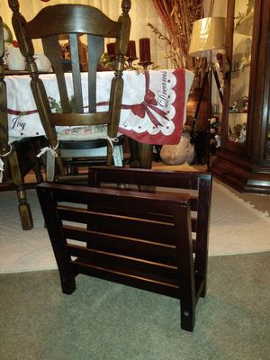 Small lightweight wooden Crate and Barrel Magazine Rack for Sale in Thornton, CO