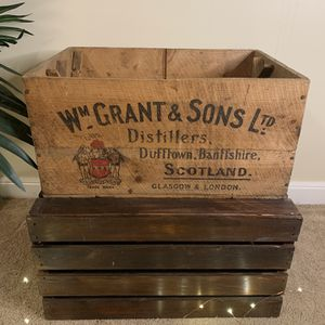Vintage Wooden Crate | Grants Scotch Whisky From Scotland for Sale in Riverside, IL