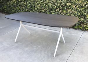 Wood Table with Metal Frame for Sale in Claremont, CA