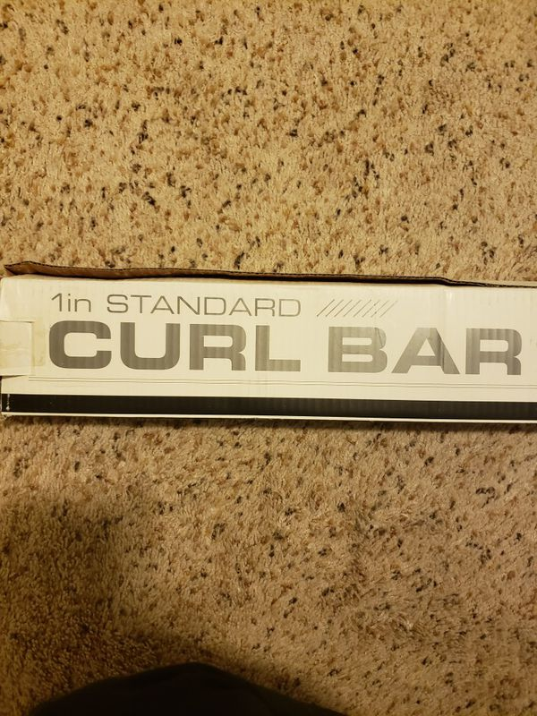 New Fitness Gear Standard Exercise Curl Bar