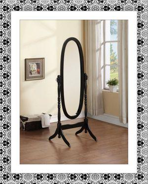 Black swivel oval mirror for Sale in Falls Church, VA