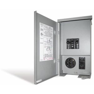 Connecticut Electric 60 Amp RV Panel Outlet with 50 Amp Receptacle, Breakers and GFCI Duplex for Sale in Houston, TX