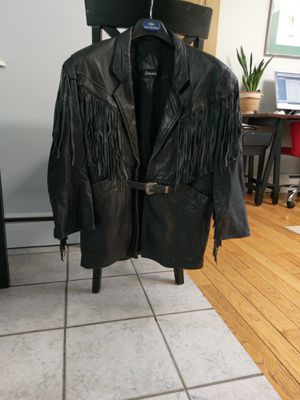 Fringed Leather Jacket, Women's size 4 for Sale in Bethel, CT