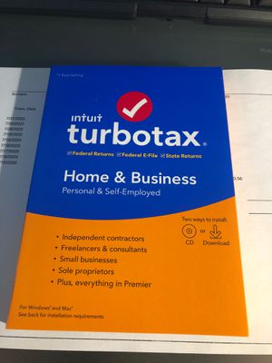 Turbo Tax 2019 home and business. for Sale in Richardson, TX