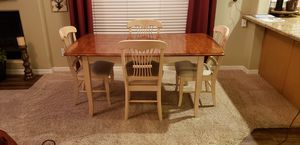 Solid Oak Dinning Table & Chairs for Sale in Phoenix, AZ
