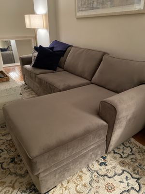 """Sectional / Sleeper Sofa with Chaise - 105"""" - Grey for Sale in New York, NY"""