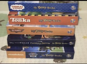 5 My Busy Books with their figurines and play mats for Sale in Hialeah, FL