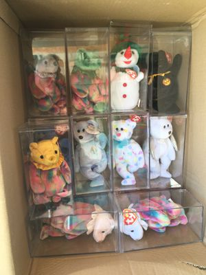 Beanie babies in cases 28/ $100 for Sale in Castro Valley, CA
