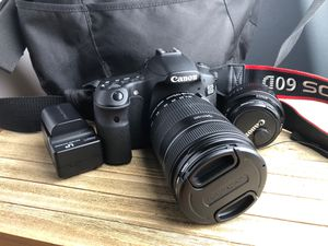 Canon 60D with 2 Lenses and Bag for Sale in Sacramento, CA