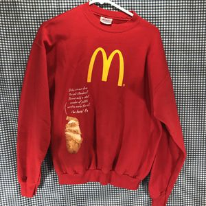 Hanes Red McDonald's Crew Member's Sweatshirt Men's Size Medium for Sale in Anchorage, AK