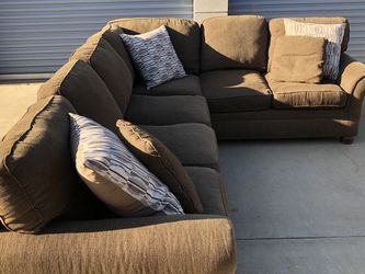 Ashley's Brown Sectional Couch With Delivery for Sale in Riverside,  CA