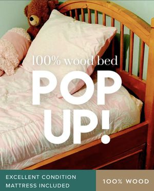 Twin wood bed with storage for Sale in Falls Church, VA