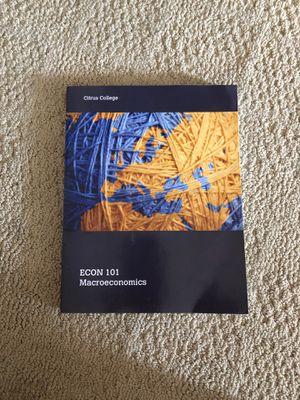 Macroeconomics Book Econ 101 for Sale in Claremont, CA