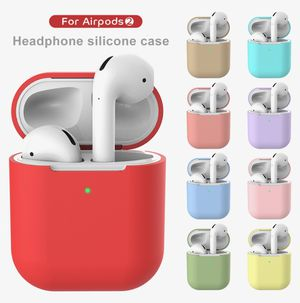 AIR PODS Case For Apple Earphone Sillicone Wireless Bluetooth Headphone For Air Pods Pouch Protective For Airpod Slim Case for Sale in Briarcliff Manor, NY
