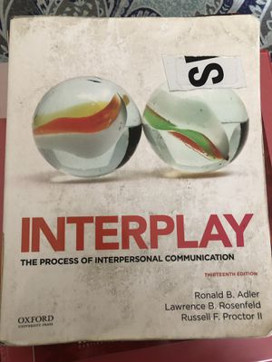 Interpersonal Communication Textbook for Sale in Chula Vista, CA