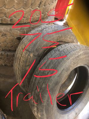 205 75 15 trailer tires C ply two tires for Sale in Cleveland, OH