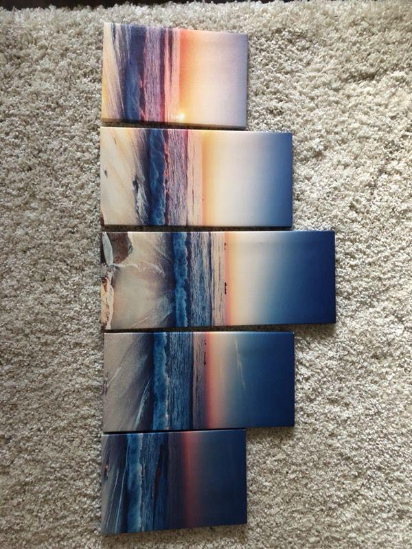 Paneled Ocean Decor