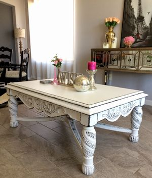 Refinished Victorian Real Wood Coffee Table for Sale in Phoenix, AZ