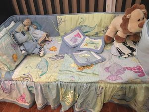 Crib from ikea with bedding set for Sale in Silver Spring, MD