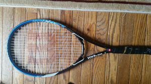 Black and blue tennis racket in good condition for Sale in Ashburn, VA