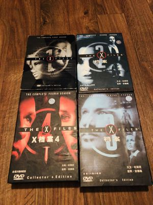 X files series dvd 1- 4 for Sale in Austin, TX