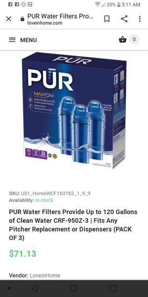 Pure cartridges for Sale in Elmira, NY