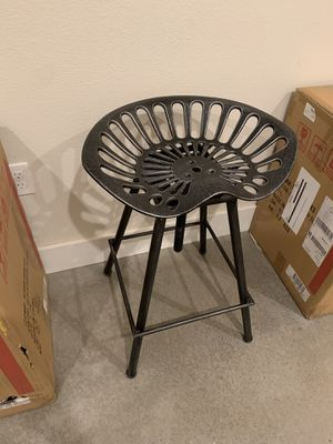 Metal Design Tractor Seat Adjustable Stool(3 Stools Included) for Sale in Austin, TX