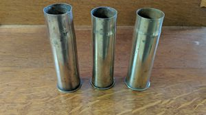 Three WW1 era brass shells 37mm for Sale in Warrenton, VA