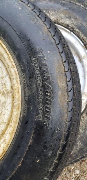 Trailer tires st175/80 D13 for Sale in Burr Ridge, IL