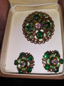 Antique German Brooch With Matching Earrings for Sale in Round Rock,  TX