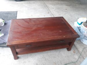 Free large heavy coffee table. for Sale in Tacoma, WA