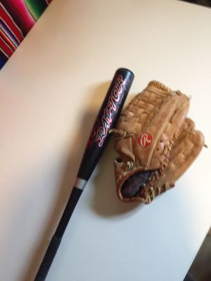 Baseball bat and glove for Sale in Oxnard, CA
