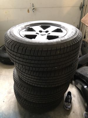 5 jeep sahara wheels and tires for Sale in Corona, CA