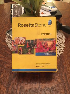 Still Available!This edition of Rosetta Stone Version 4 comes with a set containing Spanish Levels 1-3. for Sale in Spring Hill, FL