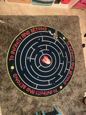Toy story Buzz lightyear kids 4' round rug for Sale in Fullerton, CA