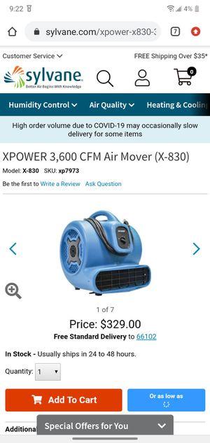 XPower 3 Speed Industrial Work Fan for Sale in Olathe, KS