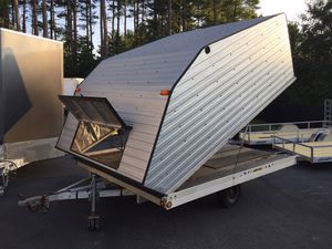 """2002 Sno-Pro SnoPro 11'x101"""" enclosed clamshell trailer with pull out ramp will trade for Sale in Westford, MA"""