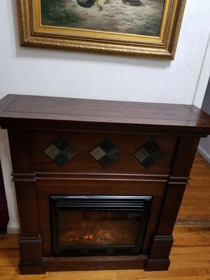 Fireplace heater furniture desk TV stand for Sale in Queens, NY