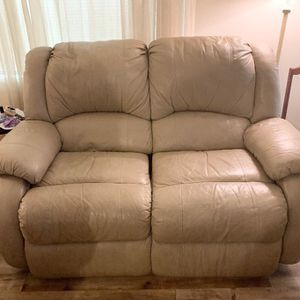 3 Piece Leather Furniture Set Chair, Couch, Love Seat, No Rips, for Sale in Gresham, OR