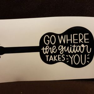 Guitar Decal for Sale in West Warwick, RI