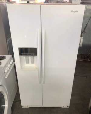 We're poor white side-by-side refrigerator for Sale in Rialto, CA