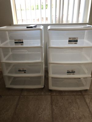 Plastic 4 drawer containers for Sale in Kailua, HI