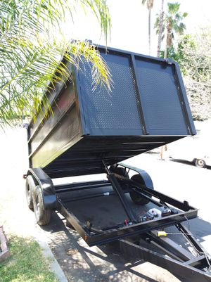 BRAND NEW TRAILER 8X12X4 HEAVY DUTY DUMP TRAILER,READY TO GO TITLE IN HAND,COLOR BLACK INCLUDING SPARE TIRE for Sale in Los Angeles, CA