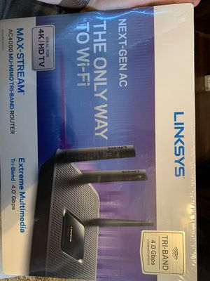 Linksys Max-Stream AC4000 Tri-Band WiFi Router (EA9300) for Sale in Greenwood Village, CO