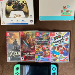 Nintendo Switch Animal Crossing Limited Edition With 4 Games for Sale in West Sacramento, CA