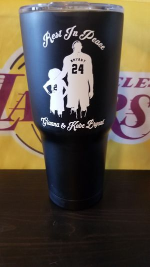Kobe and gigi 30oz hot and cold tumbler mug for Sale in Rialto, CA