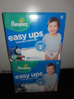 Pampers Easy Ups Boys 4t-5t (56 count): 2 boxes for $40 for Sale in Garland, TX